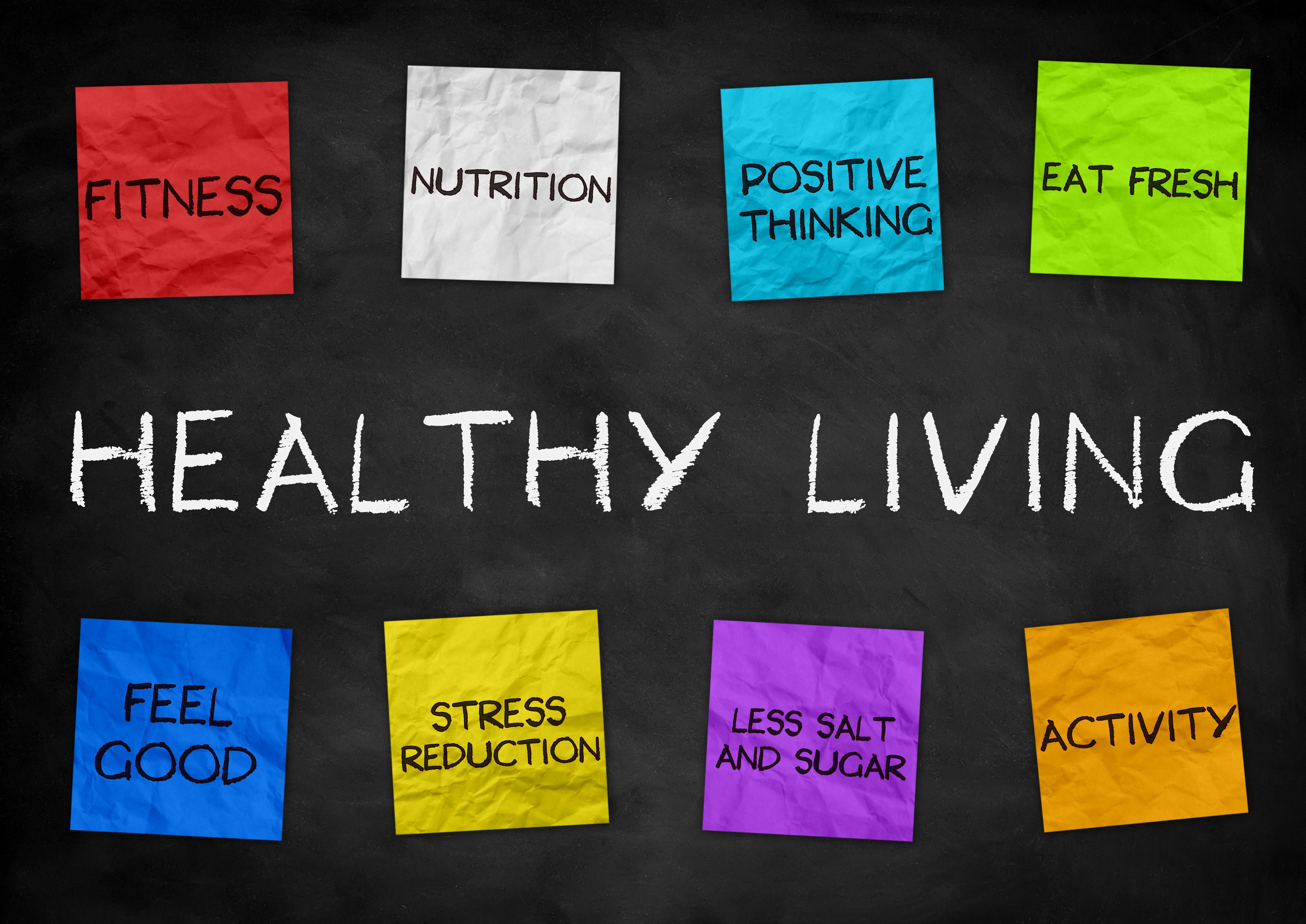 Healthy Living - illustration background